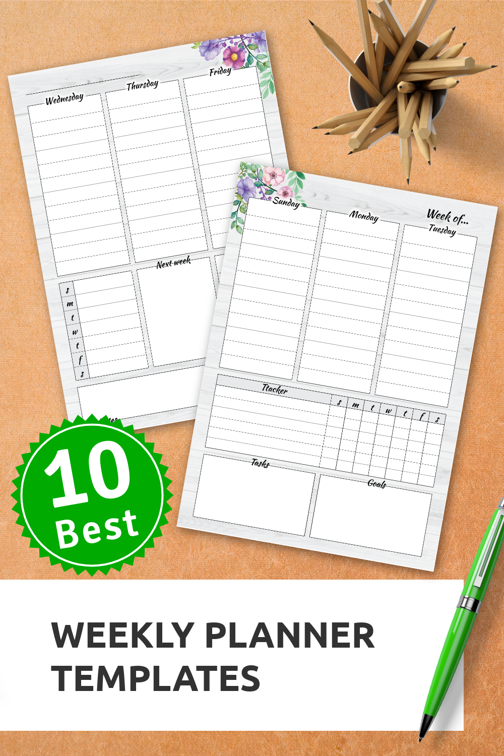 Weekly Planner Templates   Weekly Planner Template, Weekly with Design Your Life Planner Pdf Photo