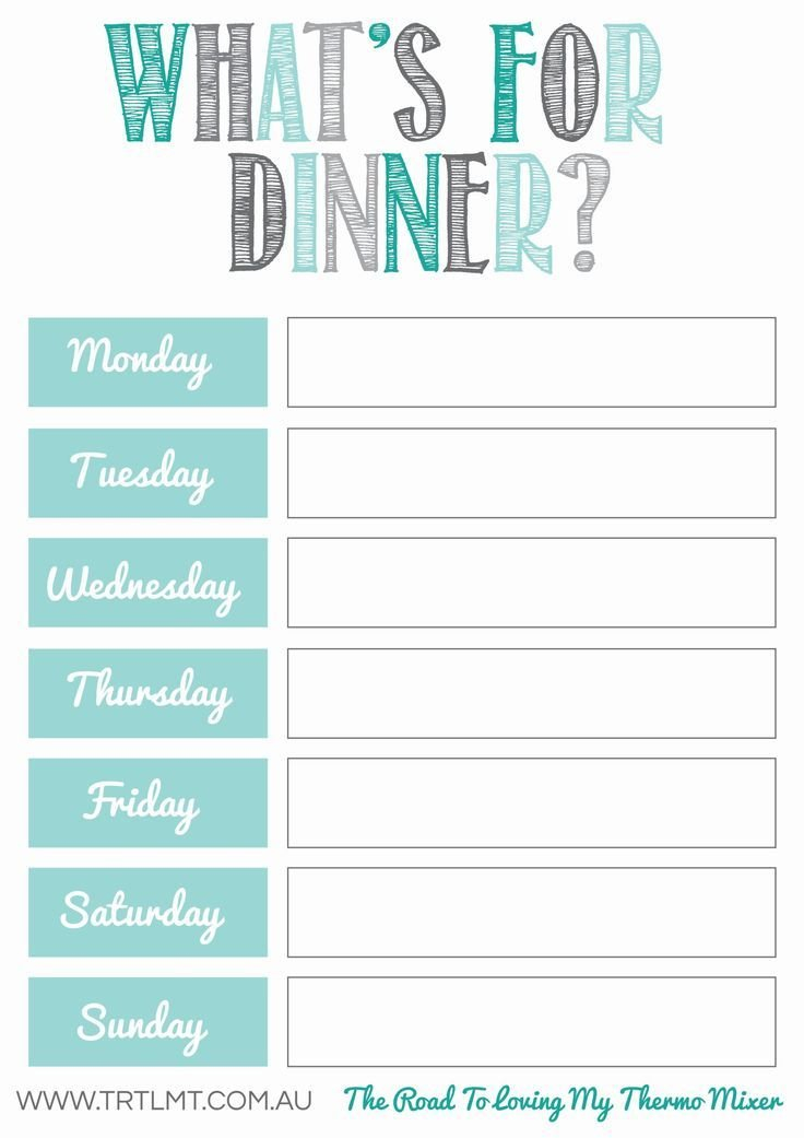 What'S For Dinner 2 Fb | Meal Planner Printable, Free Meal Planning Printables, Meal Planner for Free Meal Planner Printable