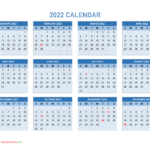 Full Page January 2022 Calendar Image